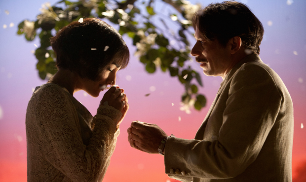 Golshifteh Farahani as Irâne and Mathieu Amalric as Nasser Ali in Chicken With Plums