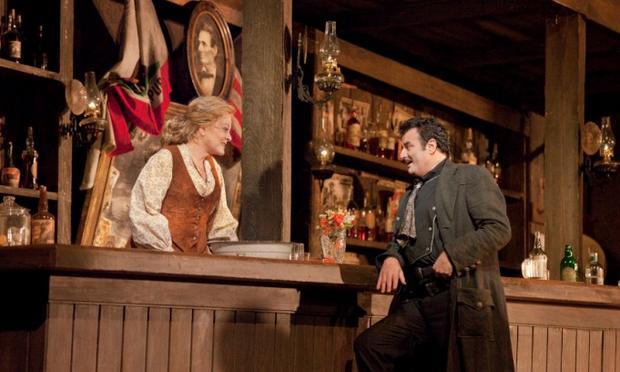 Deborah Voight and Marcello Giordani in Puccini's <em>La Fanciulla del West</em>