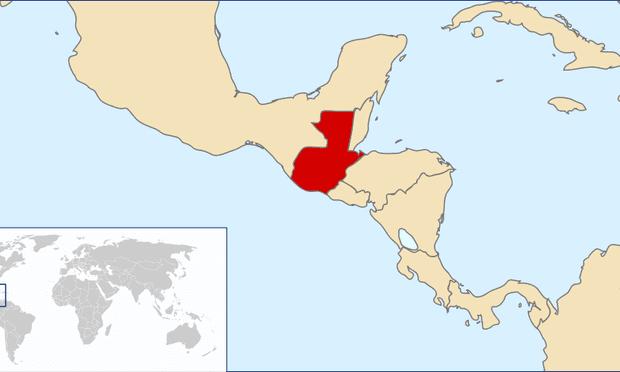 A map of Guatemala