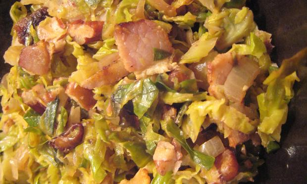Shredded Brussels Sprouts with Bacon, Pecans and Raisins (Amy Eddings ...