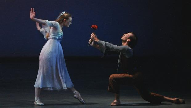 Sara Mearns and Tyler Angle in The Nightingale and the Rose, choreographed by Christopher Wheeldon