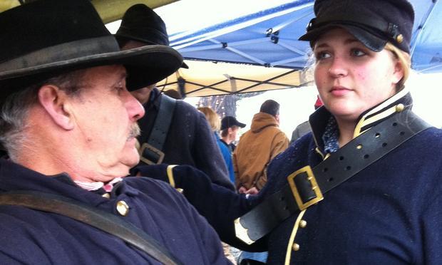 Siege at Bridgeport, Civil War Re-enactors