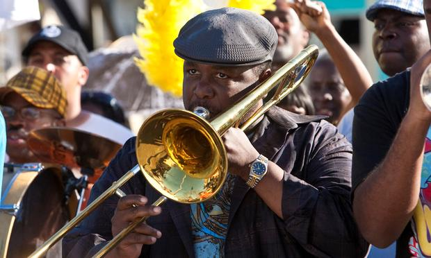 New Orleans native Wendell Pierce plays a trombonist named Antoine Batiste in the HBO series Treme.