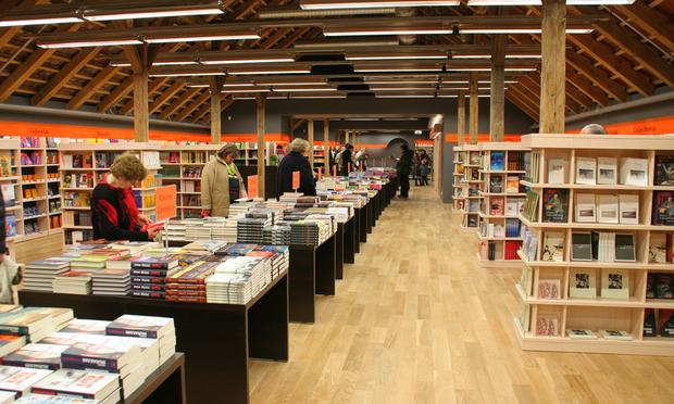 Shoppers at a bookstore