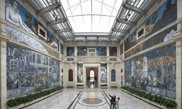 The Rivera Court at the Detroit Institute of Arts