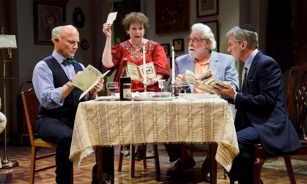 (L-R) Dan Butler, Marcia Jean Kurtz, Richard Masur, and David Garrison in 'Olive and the Bitter Herbs.'
