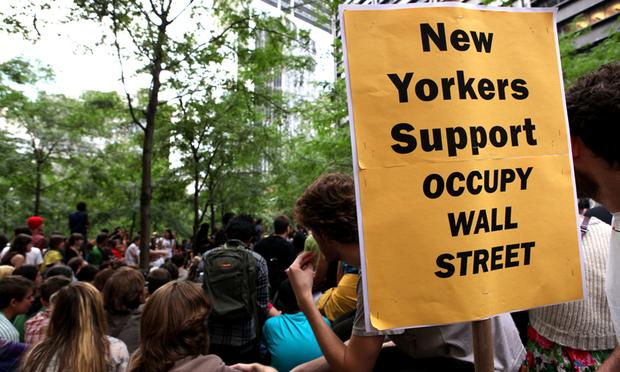 Zucchotti Park, Occupy Wall Street, protesters