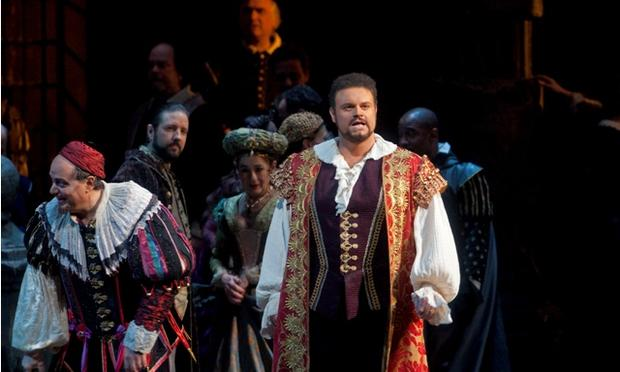 Joseph Calleja as the Duke in Rigoletto