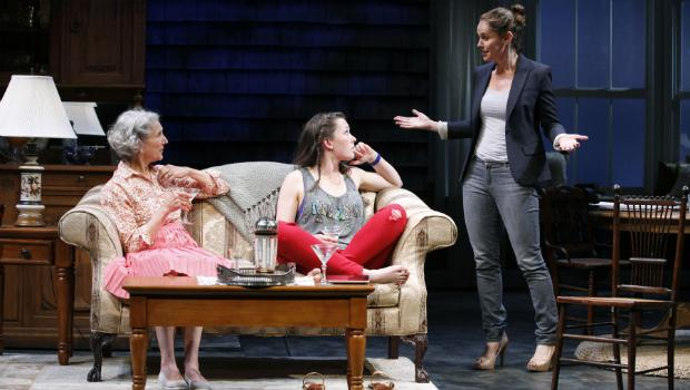Beth Dixon (left to right), Virginia Kull and Amy Brenneman in the Playrights Horizons production of 'Rapture, Blister, Burn.'