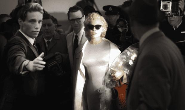 Michelle Williams as Marilyn Monroe in the film My Week With Marilyn