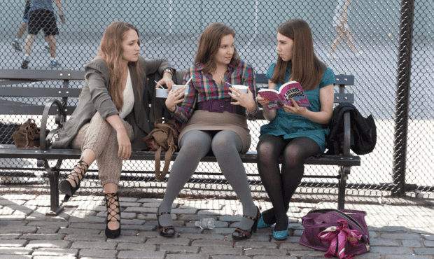 Jemima Kirke, Lena Dunham, and Zosia Mamet in Girls