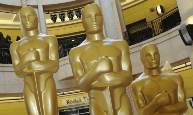 Oscar statues at the Kodak Theatre in Hollywood