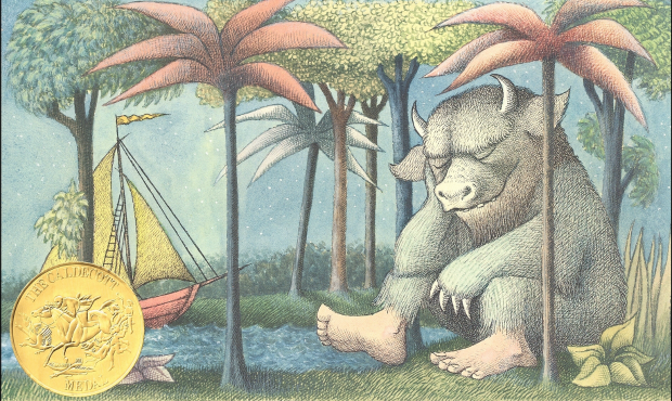 Detail from the cover of 'Where the Wild Things Are' by Maurice Sendak