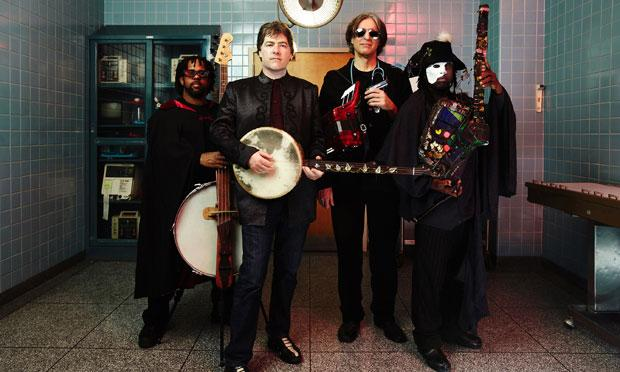 Béla Fleck & the Flecktones: (L-R) Victor Wooten, Béla Fleck, Howard Levy and Roy 'Futureman' Wooten.