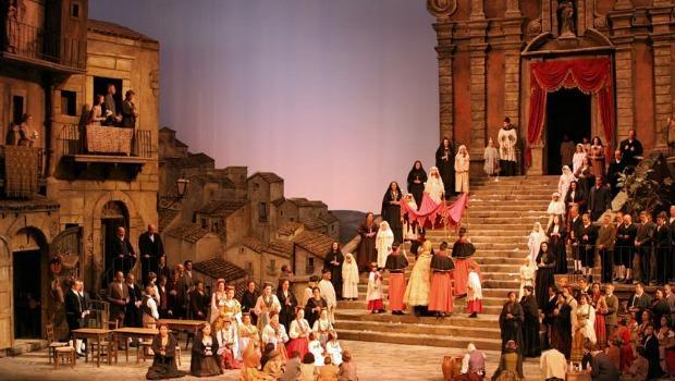 A Scene from Act I of Cavalleria Rusticana, Metropolitan Opera