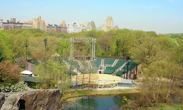Delacorte Theater in Central Park, where Shakepeare in the Park plays in the summer