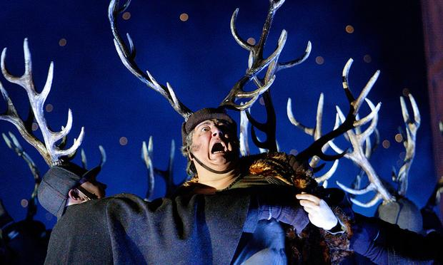 Ambrogio Maestri as Falstaff in the Royal Opera House's production of Verdi's 'Falstaff.'