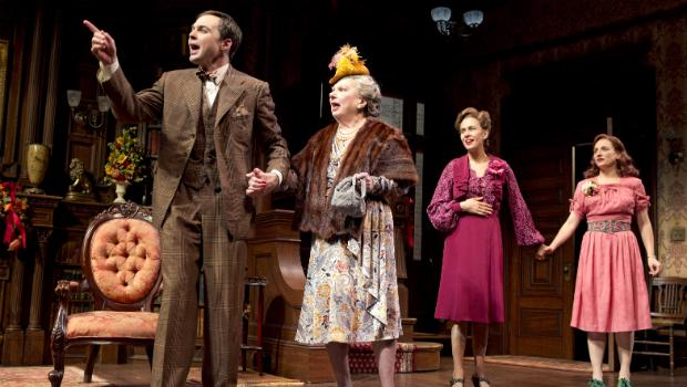 Jim Parsons (left to right), Angela Paton, Jessica Hecht and Tracee Chimo in the Roundabout Theatre Company's 'Harvey.'