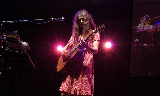 Juana Molina on stage