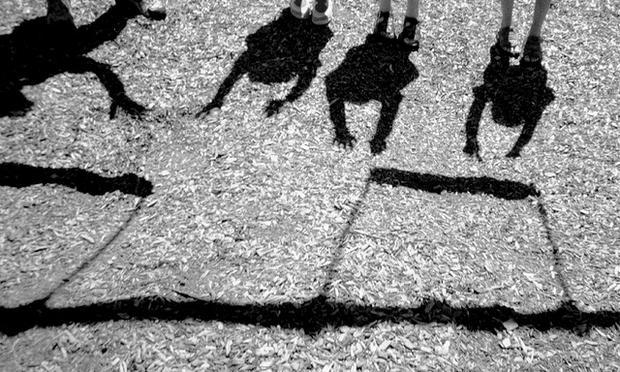 Shadows of children