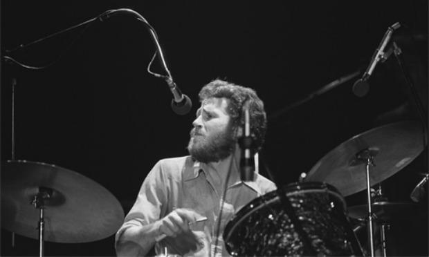 Levon Helm, legendary drummer for The Band, performing in 1976.