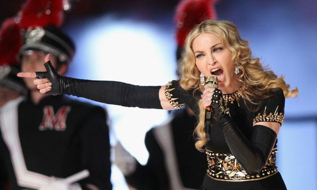 Madonna at the 2012 Super Bowl half-time show. Was she #1 in Billboard's Money Makers List for 2012?