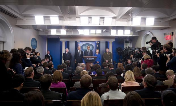 President Barack Obama speaks about the US strategy for military and civilian operations in Afghanistan and Pakistan following a two-month review process of the nine-year war