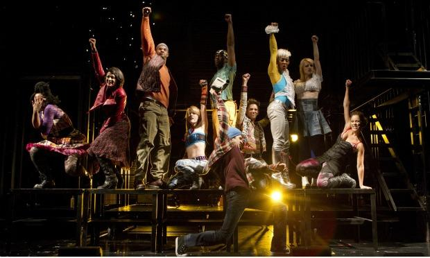 The cast of the newly-revamped 'Rent' Off-Broadway.