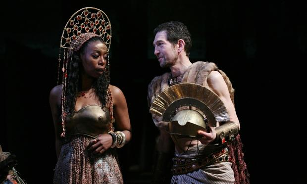 Noma Dumezweni and Greg Hicks in the Royal Shakespeare Company's Julius Caesar