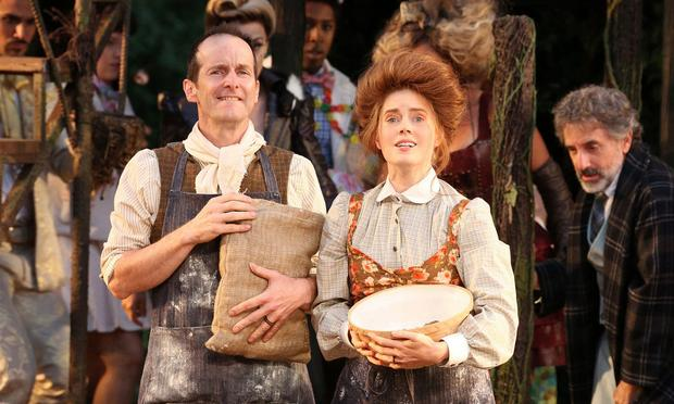 Denis O'Hare and Amy Adams in the Shakespeare in the Park production of 'Into the Woods.'