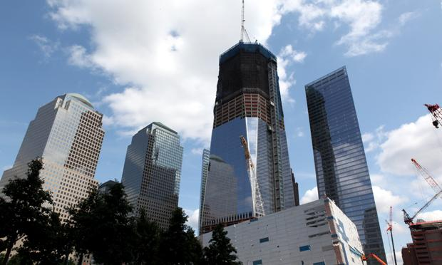 One World Trade Center on June 13, 2011.