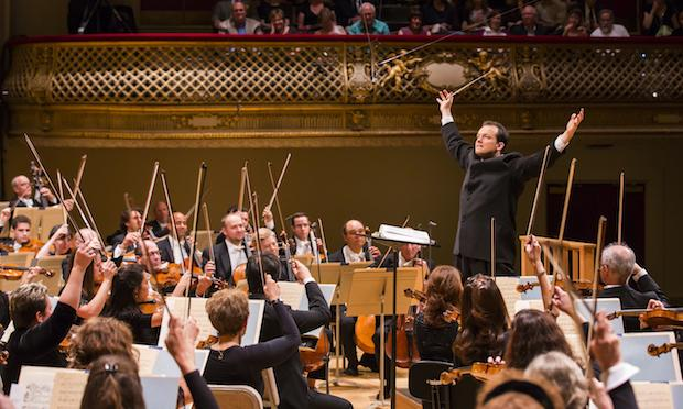 Andris Nelsons makes his debut as the new Boston Symphony music director at Symphony Hall in Boston.