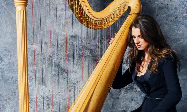 Harpist Bridget Kibbey is an alumna of Young Artists Showcase.