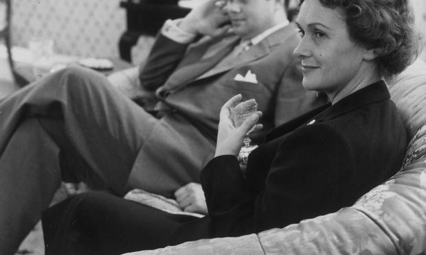 Soprano Elisabeth Schwarzkopf with baritone Dietrich Fischer-Dieskau at Schwarzkopf's home in Hampstead, London, in 1957.
