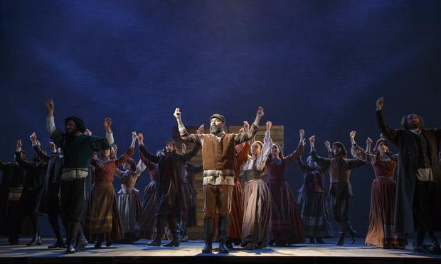 Danny Burstein and cast in 'Fiddler on the Roof' at the Broadway Theatre.