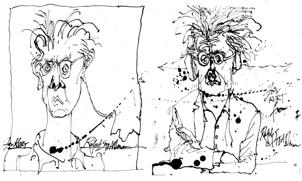 Ralph Steadman's portraits of Kurt Andersen