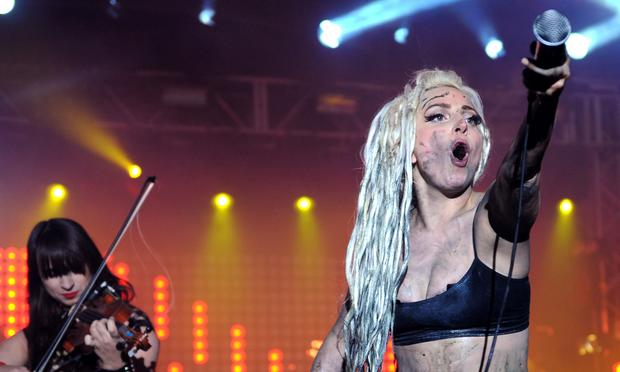 Lady Gaga performs at the Doritos #BoldStage at Stubb's Bar-B-Q on March 13, 2014 at SXSW.