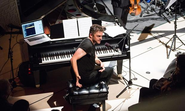 Nico Muhly at National Sawdust opening night on October 1, 2015