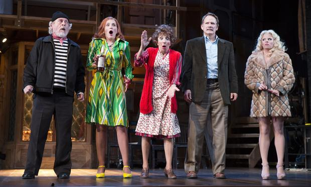 Daniel Davis, Kate Jennings Grant, Andrea Martin, Campbell Scott and Megan Hilty in the Roundabout Theatre Company's 'Noises Off.'