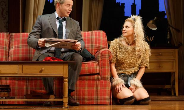 Matthew Broderick and Annaleigh Ashford in A.R. Gurney's 'Sylvia' at the Cort Theatre.