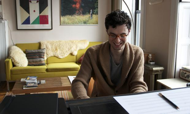 Composer-Pianist Timo Andres in his Bed-Sty Apartment