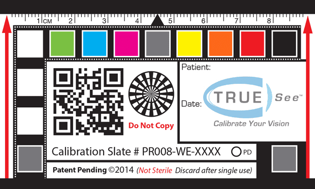 A TRUE-See calibration slate