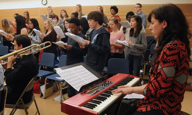 Brooklyn Youth Chorus in rehearsal with composer Missy Mazzoli