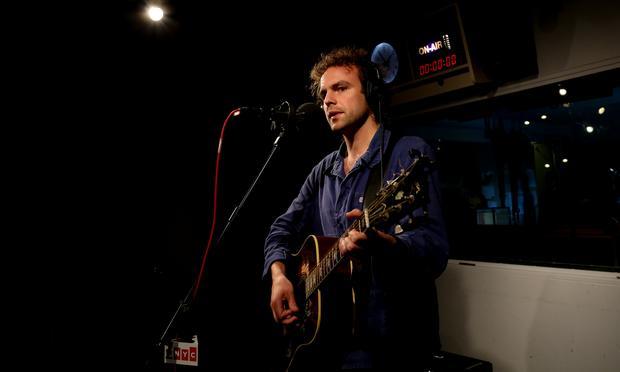 Damon McMahon of Amen Dunes performs in the Soundcheck studio