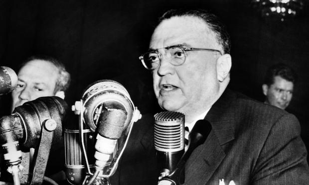 J. Edgar Hoover at press conference