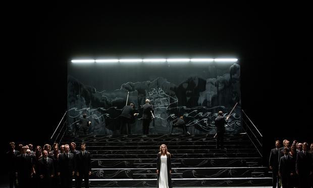 On stage at the Palais Garnier: Sophie Koch, Yann Beuron, Stanislas de Barbeyrac, Jean-Francois Lapointe, Franck Ferrari, Florian Sempey,  Francois Lis