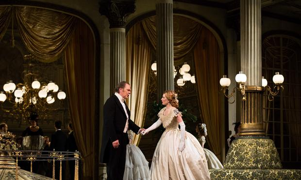 "Michael Volle as Mandryka and Malin Byström as the title character in Strauss's ""Arabella."""