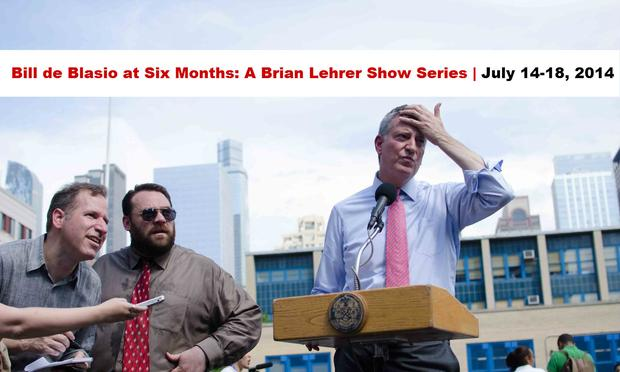 bill de blasio six month series banner