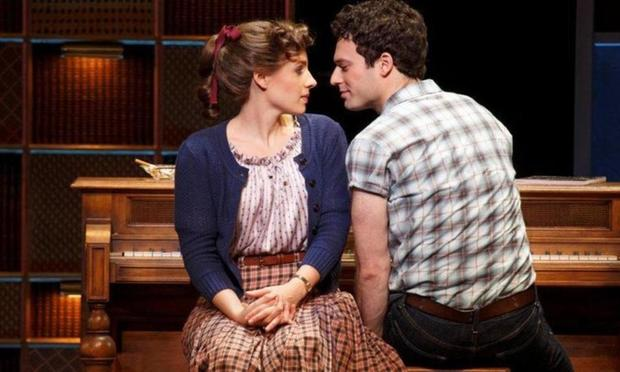 Jessie Mueller as Carole King in the Broadway show 'Beautiful: The Carole King Musical.'