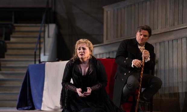 Patricia Racette as Maddalena and Željko Lučić as Gérard in Giordano's 'Andrea Cheniér.'